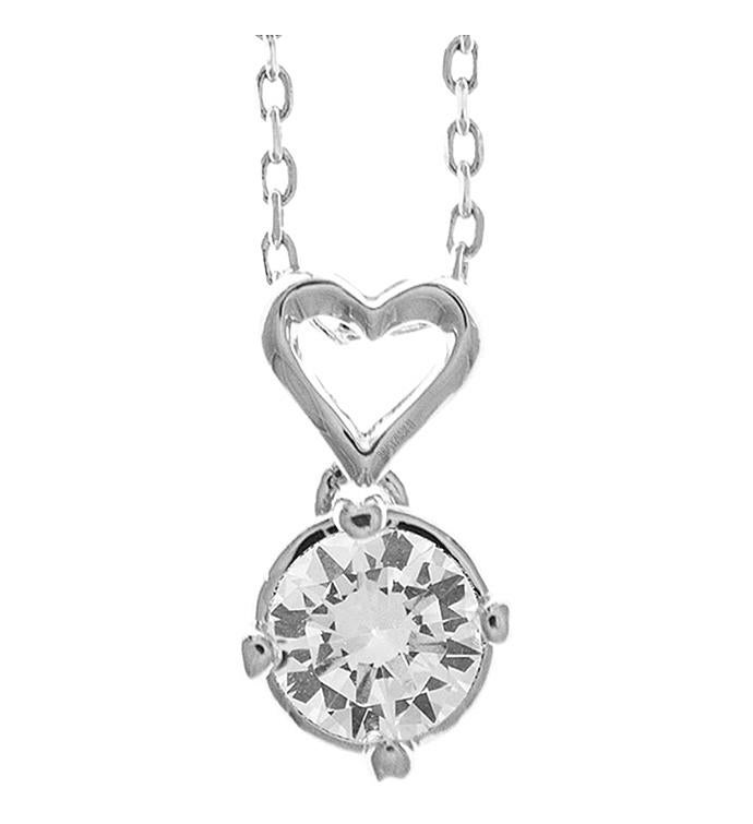 Crystal Heart Stud Design Necklace