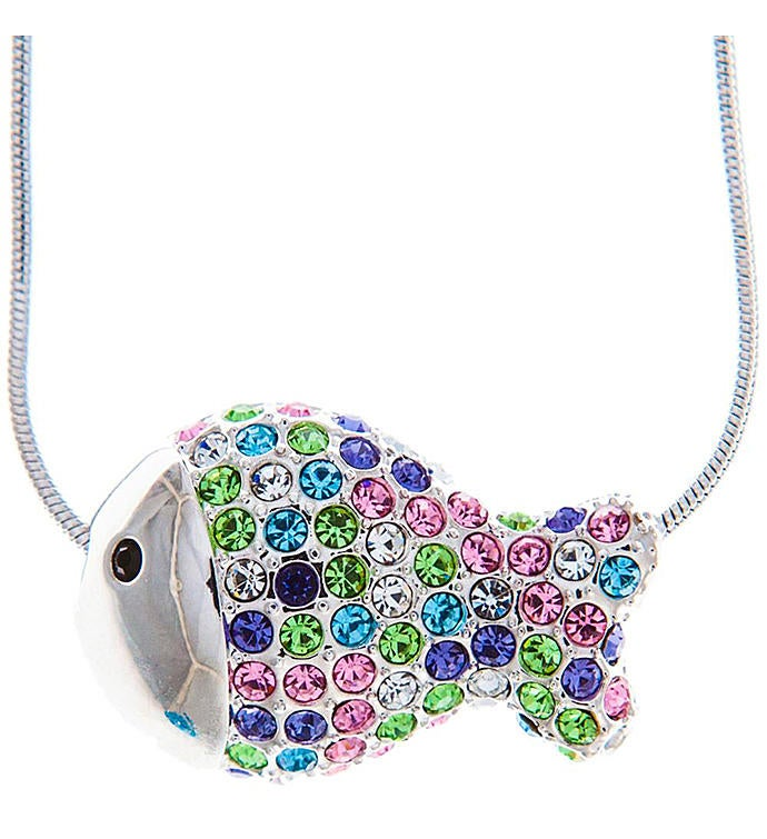 Multi-Colored Fish Necklace