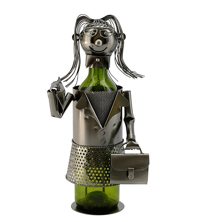 Business Woman Bottle Holder