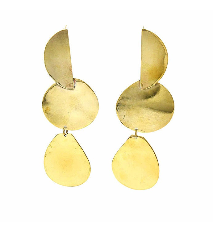 Handmade Erika Brass Drop Earrings