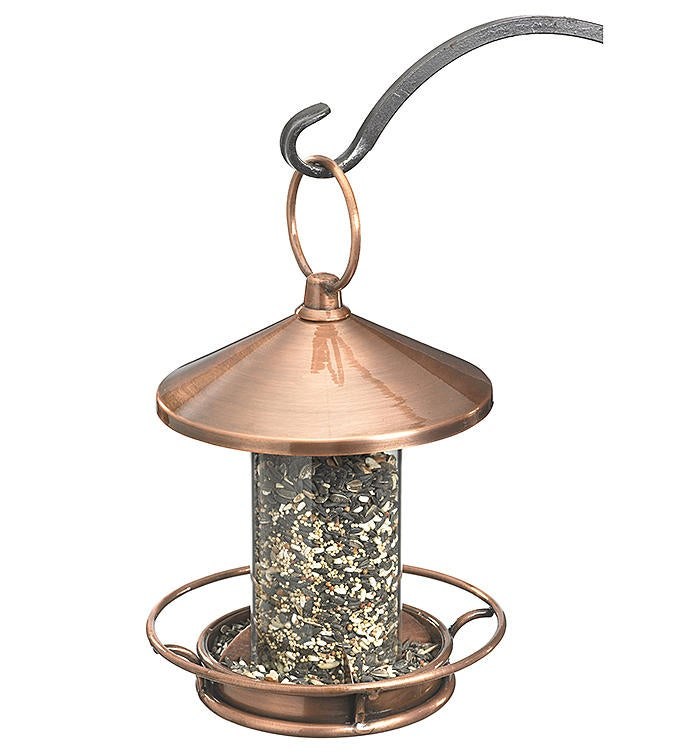 Classic Perch Bird Feeder - Copper Finish