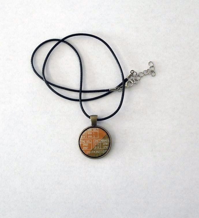 Techie Circuit Board Necklace