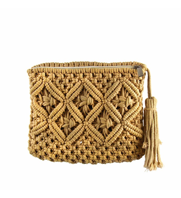 Handmade Recycled Cotton Macrame Clutch Purse
