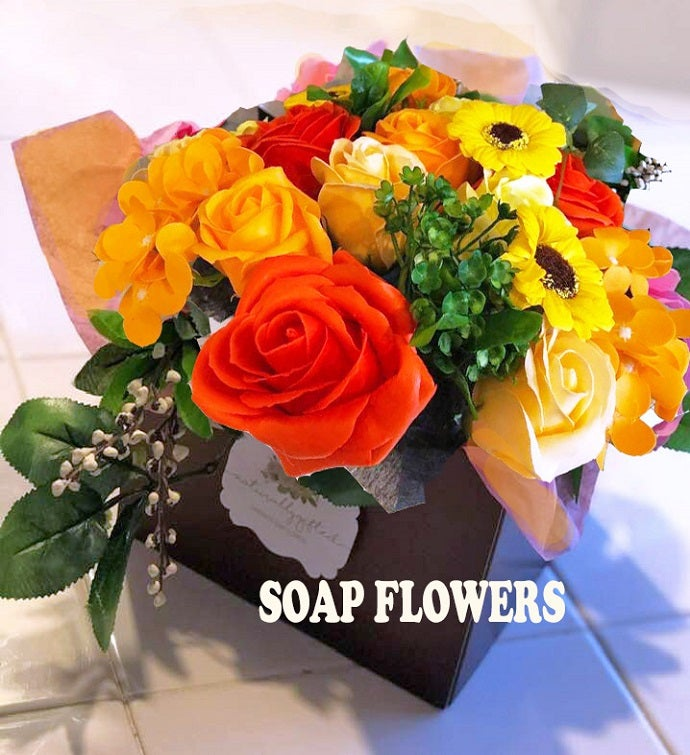 Fall Soap Flowers