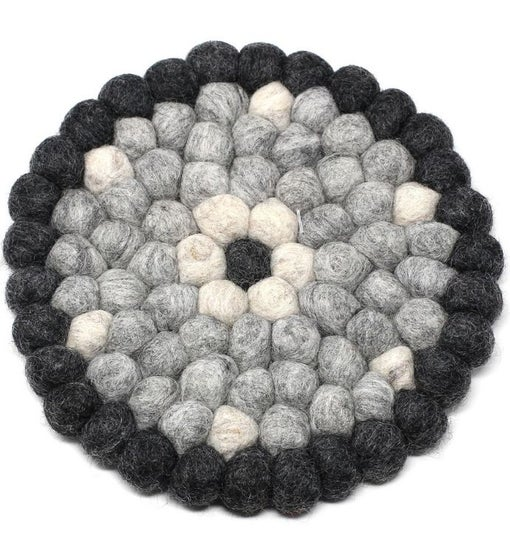 Hand Crafted Felt Ball Wool Trivet From Nepal