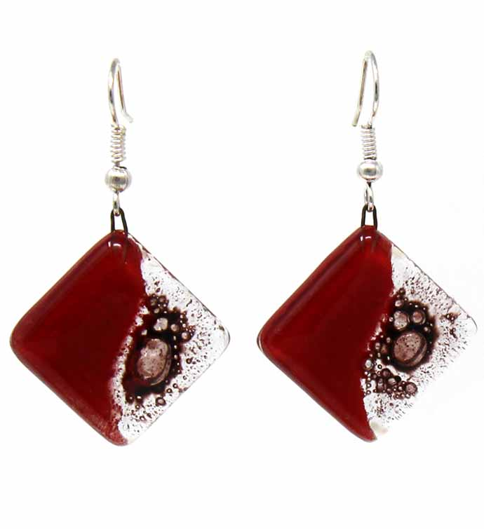 Handmade Glass Dangle Earrings