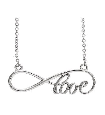 Infinity Love Necklace Sterling Silver