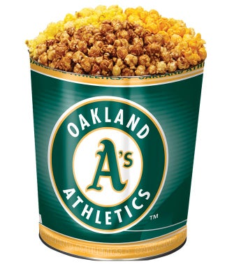 Oakland As 3-Flavor Popcorn Tins