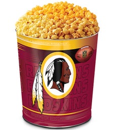 Washington Redskins 3-Flavor Popcorn Tins