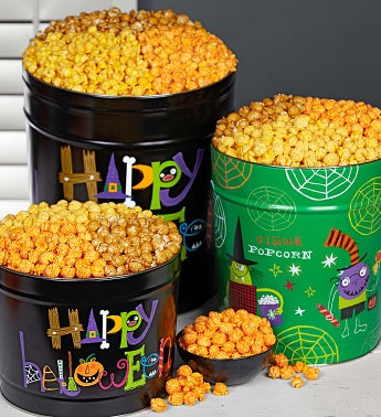Happy Halloween / Halloween Party Popcorn Tins