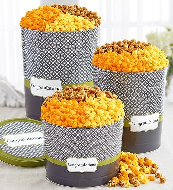 Simply Stated™ Congratulations Popcorn Tins