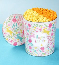 3-1/2 Gallon Happy Easter Pick A Flavor Popcorn Tins