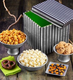Silver Stripe Collapsible Snack Box