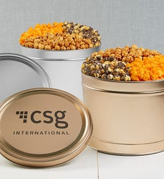 Simply Gold & Silver Deluxe Popcorn Tins