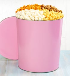 3-1/2 Gallon Pop of Pink Pick a Flavor Popcorn Tins