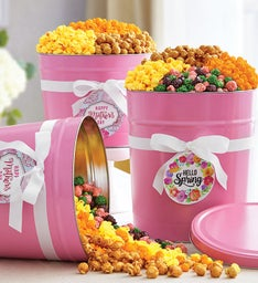 Pop of Pink Popcorn Tins