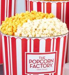 2 Gallon TPF Retro Pick A Flavor Popcorn Tins