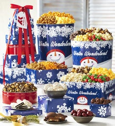 Winter Wonderland 8-Tier Tower & Popcorn Tins
