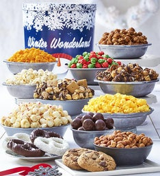 Winter Wonderland Tin Premium Snack Assortment