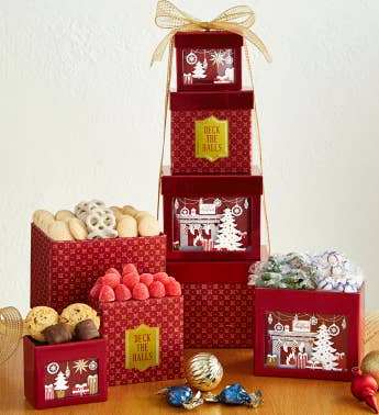 4-Tier Deck the Halls Tower