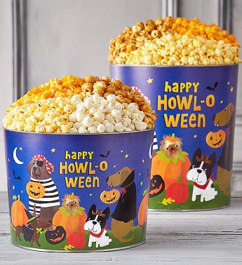 Howl-O-Ween Paw-Ty Popcorn Tins