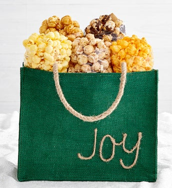Holiday Burlap Bags - Joy