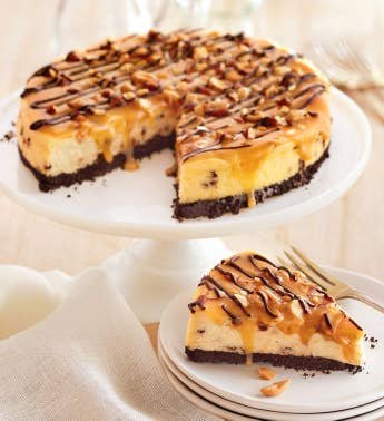 Chocolate Caramel Nut Cheesecake