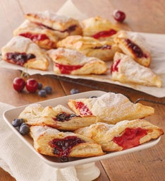 Blueberry and Cherry Turnovers